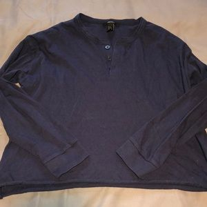 navy blue button up long sleeve